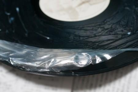 レコードを木工ボンドパック